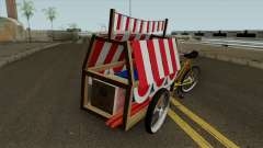 Indonesian Flag Seller Cart для GTA San Andreas