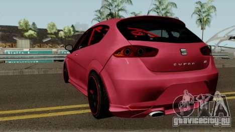 Seat Leon Cupra R для GTA San Andreas вид сзади слева
