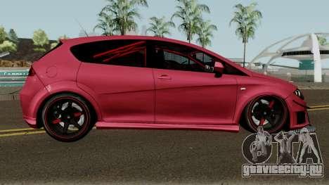Seat Leon Cupra R для GTA San Andreas вид сзади