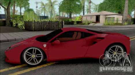 Ferrari 488 GTB Red для GTA San Andreas
