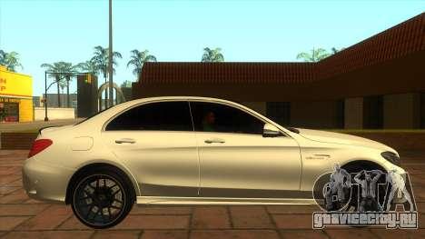 Mercedes-Benz C63S V8 AMG для GTA San Andreas