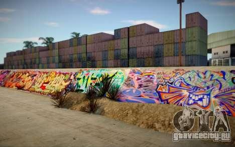 Los Angeles 90s Stormdrain Graffiti для GTA San Andreas
