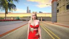 Helena Red Dress для GTA San Andreas