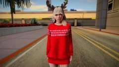 Rachel Christmas Outfit для GTA San Andreas