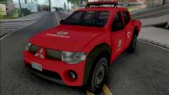 Mitsubishi L200 Triton 2010 CBMERJ Improved для GTA San Andreas