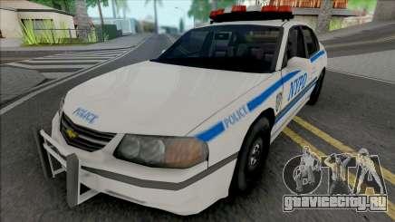 Chevrolet Impala 2003 NYPD (512x512 Texture) для GTA San Andreas