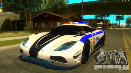 Police Koenigsegg Agera R для GTA San Andreas