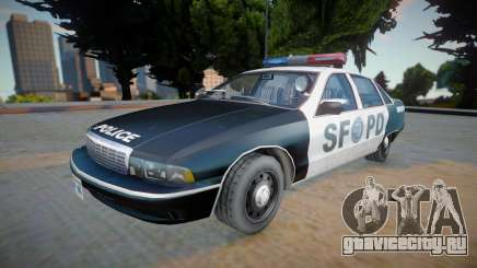 Chevrolet Caprice 1992 (SFPD) - Improved для GTA San Andreas