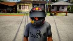 Racing Helmet Red Bull для GTA San Andreas
