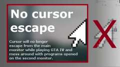 No Cursor Escape для GTA 4