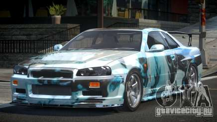 Nissan Skyline R34 BS U-Style PJ6 для GTA 4