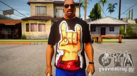 Rock Hand Black T-Shirt для GTA San Andreas