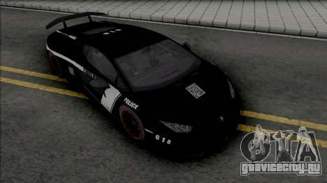 Lamborghini Huracan Performante Police для GTA San Andreas