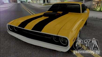 Dodge Challenger RT 1970 [IVF VehFuncs ADB] для GTA San Andreas