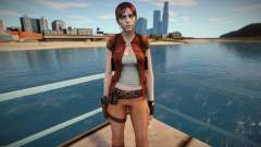 Claire Redfield in a costume Helena Harper для GTA San Andreas