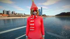 Female striped scarf from GTA Online для GTA San Andreas
