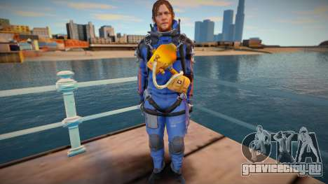 Sam blue suit [Norman Reedus] (from Death Strand для GTA San Andreas
