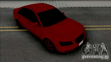 Hyundai Sonata Red Black для GTA San Andreas