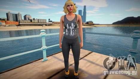 Blond beauty from GTA Online для GTA San Andreas