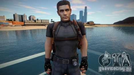 Chris Redfield Leon Re1 для GTA San Andreas