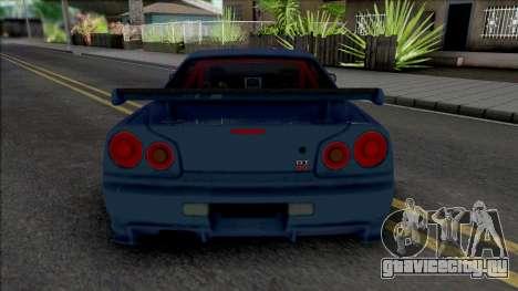 Nissan Skyline GT-R 2002 для GTA San Andreas