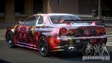 Nissan Skyline R34 PSI-U S6 для GTA 4