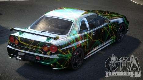 Nissan Skyline R34 PSI-U S10 для GTA 4