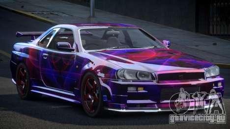 Nissan Skyline R34 PSI-U S5 для GTA 4