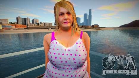 New CJ Girlfriends 2021 - Barbara для GTA San Andreas