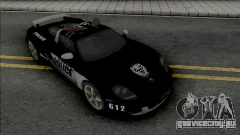 Porsche Carrera GT 2004 Police для GTA San Andreas