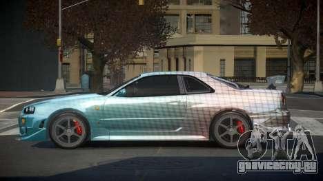 Nissan Skyline R34 PSI-S S3 для GTA 4