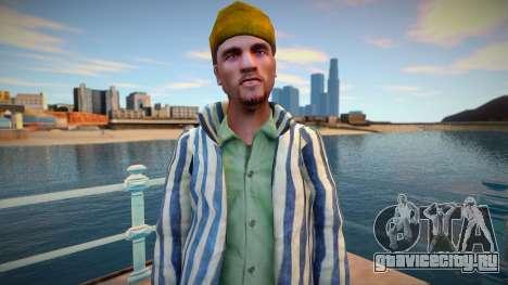 Русский уголовник в тюремной робе для GTA San Andreas