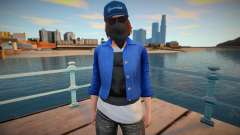 Marcus Holloway (GTA Online Female Cosplay) для GTA San Andreas