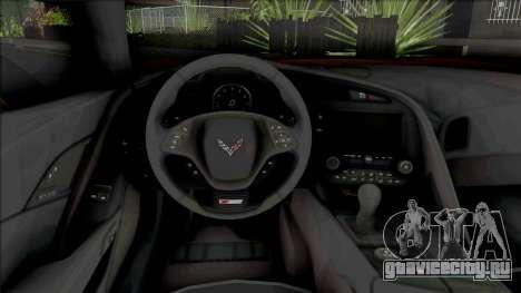 Chevrolet Corvette Z06 (C7) (SA Lights) для GTA San Andreas