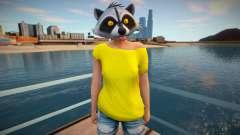 Girl raccoon from GTA Online для GTA San Andreas