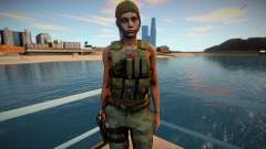 Claire Redfield Military RE2 Remake для GTA San Andreas