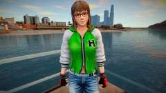 Dead Or Alive 5 - Hitomi (Costume 2) v5 для GTA San Andreas