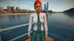 Красивая девушка в юбке для GTA San Andreas