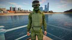 Боец в зимней боевой форме для GTA San Andreas