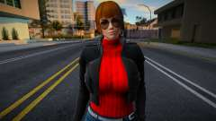 DOA Kasumi Asianed Red Jacket v1 для GTA San Andreas