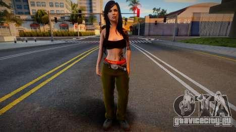 Gangsta girl skin для GTA San Andreas