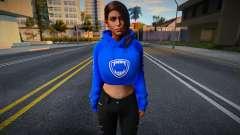 Lara Croft Fashion Casual - Los Santos Tuners 1 для GTA San Andreas