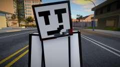 Charles - Stickmin Skin from Minecraft для GTA San Andreas