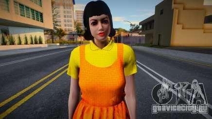 Female Custom Giant Doll Dress Round6 Squid Game для GTA San Andreas
